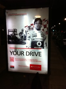 Jenson Button Bus Stop Pin-Up
